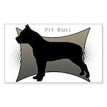Pit Bull Sticker (Rectangle 10 pk)
