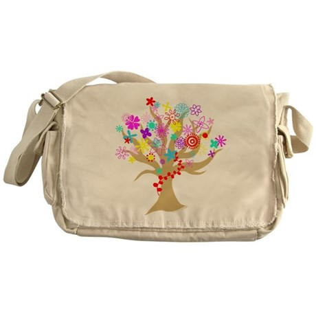 Flowering Tree Messenger Bag