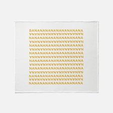 Banananananananananana Throw Blanket