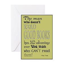 Twain Good Books Yellow Multi Greeting Card