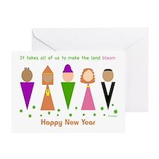 Jewish New Year Diversity Greeting Card