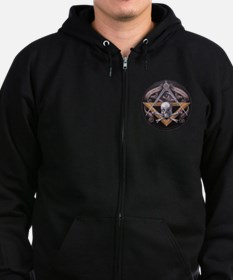 Unique Square compass Zip Hoodie