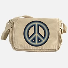 Blue Peace Symbol Messenger Bag