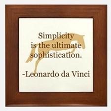 simplicity quote w/ jumper horse Framed Tile