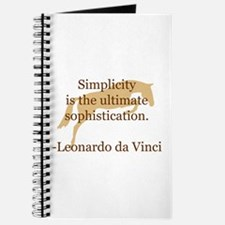 simplicity quote w/ jumper horse Journal