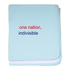One Nation Indivisible baby blanket