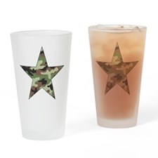 Camouflage Star Drinking Glass