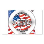 Mustang Classic 2012 Sticker (Rectangle 50 pk)