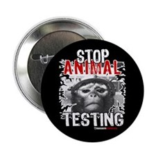 """STOP ANIMAL TESTING - 2.25"""" Button (10 pack)"""