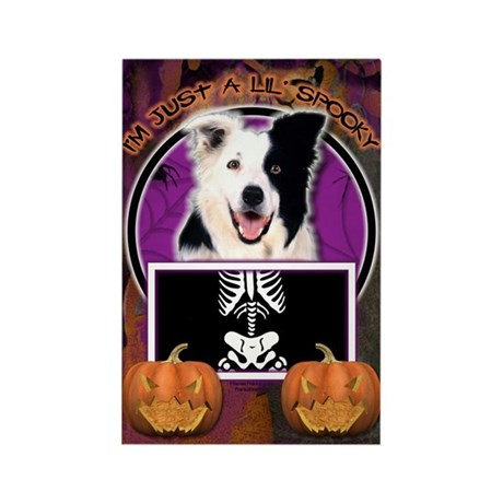 Just a Lil Spooky Border Collie Rectangle Magnet (