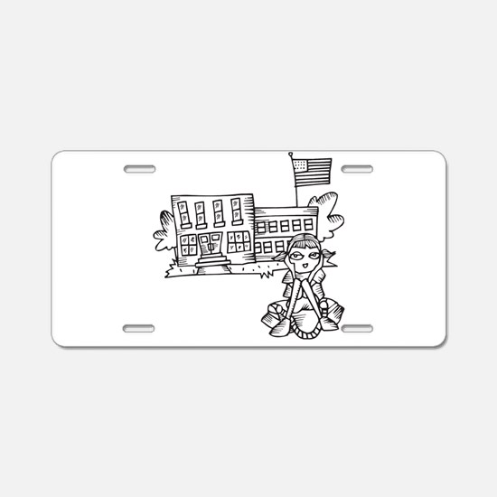 School Girl Aluminum License Plate