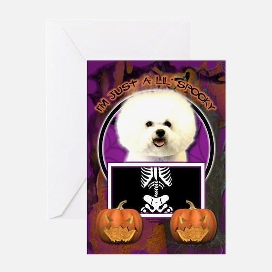 Just a Lil Spooky Bichon Greeting Card