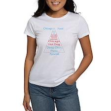 Chicago Food Pyramid Tee