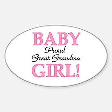 Baby Girl Great Grandma Oval Decal