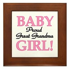 Baby Girl Great Grandma Framed Tile