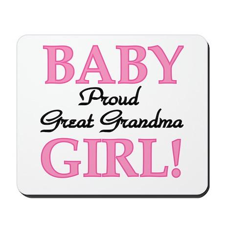 Baby Girl Great Grandma Mousepad