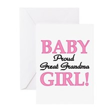 Baby Girl Great Grandma Greeting Cards (Package of