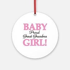 Baby Girl Great Grandma Ornament (Round)