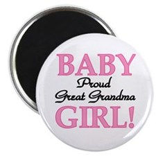 Baby Girl Great Grandma Magnet