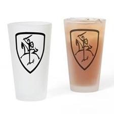Black and White Vytis Drinking Glass