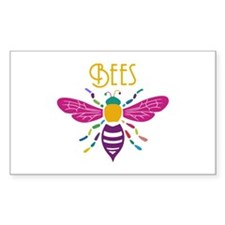 bee stamp colour Decal