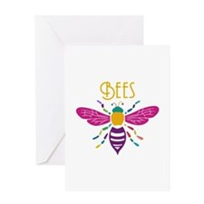 Unique Honey bee Greeting Card