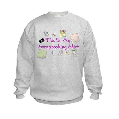 This Is My Scrapbooking Shirt Kids Sweatshirt