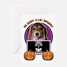 Just a Lil Spooky Beagle Greeting Card