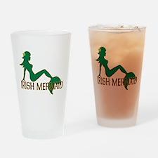 Irish Mermaid Drinking Glass