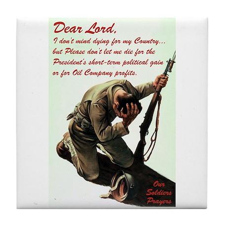 A Soldier's Prayer Tile Coaster