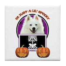 Just a Lil Spooky Eskie Tile Coaster