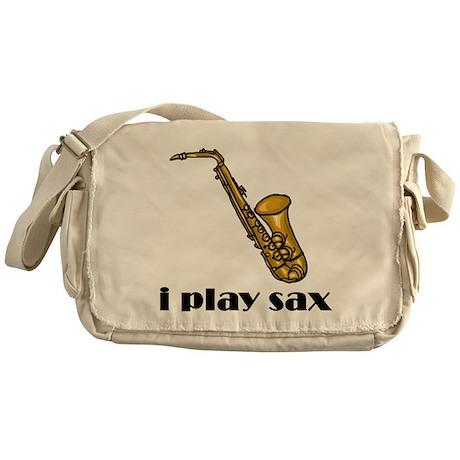 I Play Sax Messenger Bag