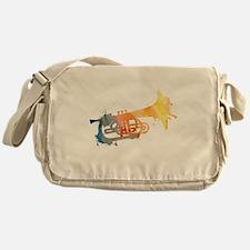 Paint Splat Mellophone Messenger Bag