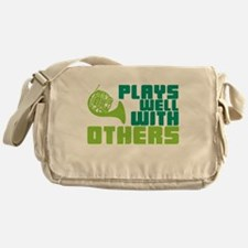 French Horn Plays Well Messenger Bag