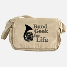 French Horn Band Geek Messenger Bag