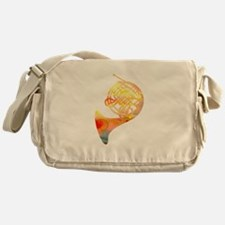 Watercolor Horn Messenger Bag