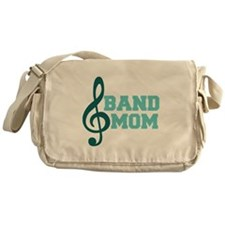 Treble Clef Band Mom Messenger Bag