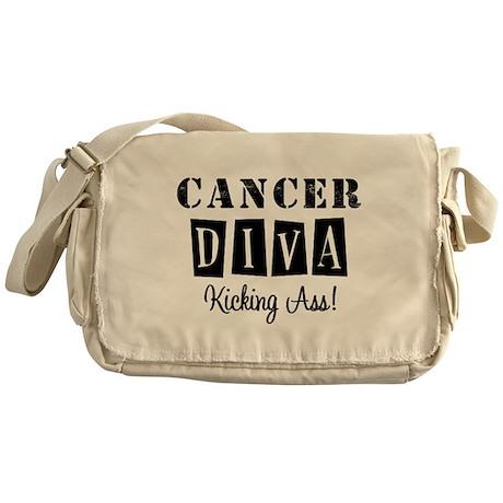 Cancer Diva (Black) Messenger Bag