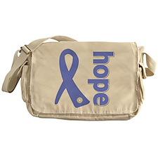 Hope Ribbon Stomach Cancer Messenger Bag