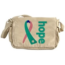 Hope Thyroid Cancer Ribbon Messenger Bag
