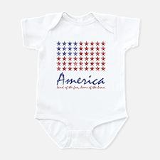 Patriotic American flag BAby snap t-shirt onesie