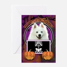 Just a Lil Spooky Eskie Greeting Card