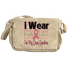 Great-Grandma Breast Cancer Messenger Bag