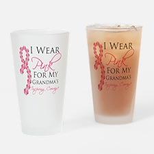 Grandma - Breast Cancer Drinking Glass