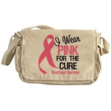 I Wear Pink For The Cure Messenger Bag