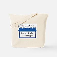 Singing Makes Me Happy (blue) Tote Bag