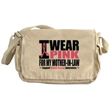 I Wear Pink Ribbon Messenger Bag