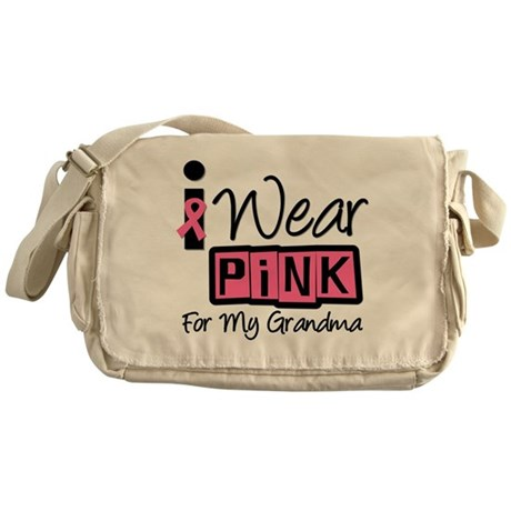 I Wear Pink For My Grandma T- Messenger Bag