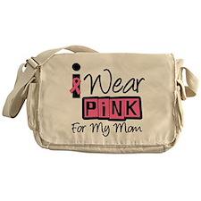 I Wear Pink Ribbon Mom Messenger Bag
