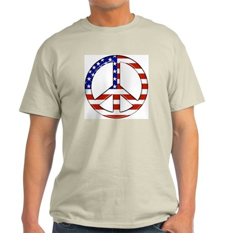 Peace Sign American FLag T-Shirt (colors)